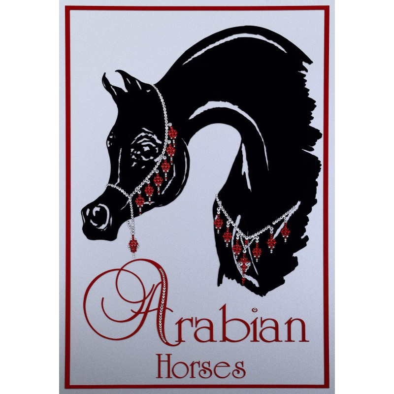 "Sparkling Plate ""The Black Arab Horse"""