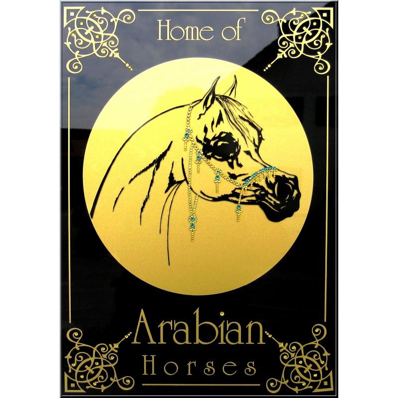 "Sparkling Plate ""Arabian Horses"""
