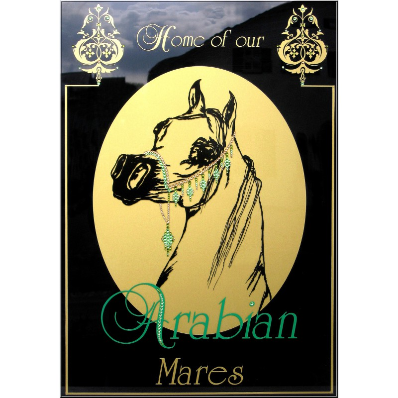 "Sparkling Plate ""Arabian Mares"""