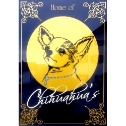 "Sparkling Plate ""Chihuahua"""