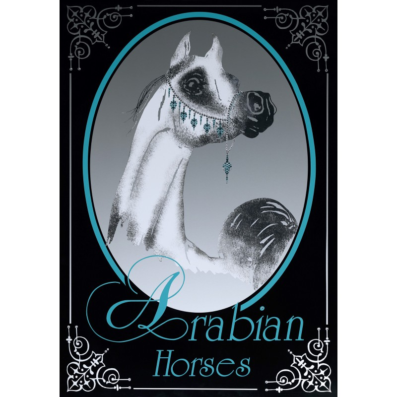 "Sparkling Plate Edition ""The white Arab Stallion"""