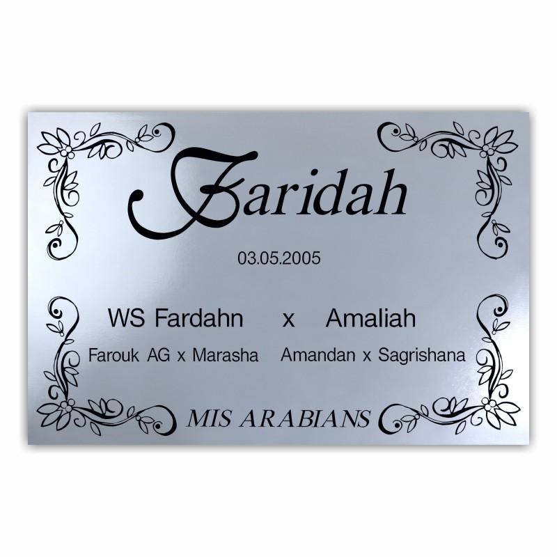 """Nameplate """"Marakesh"""""""