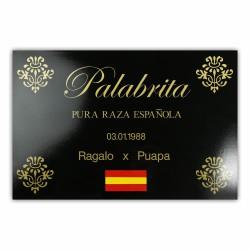 """Nameplate """"Almeria"""""""