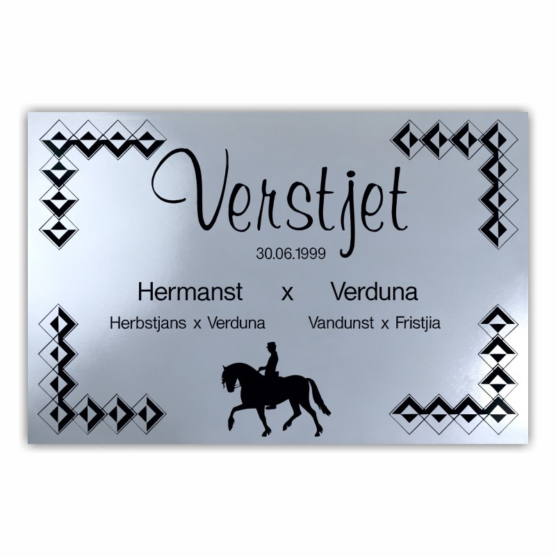 "Nameplate ""Frisian"""